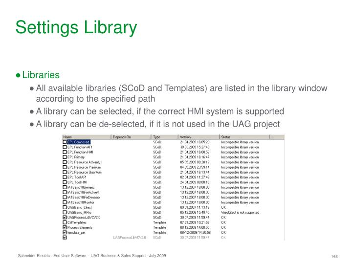 Settings Library