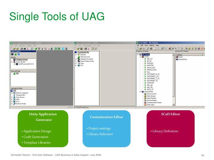 Single Tools of UAG