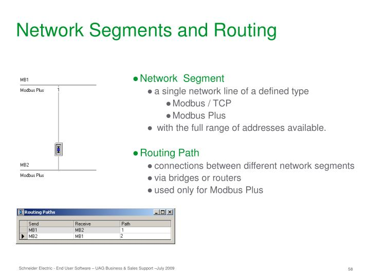 Network Segments and Routing
