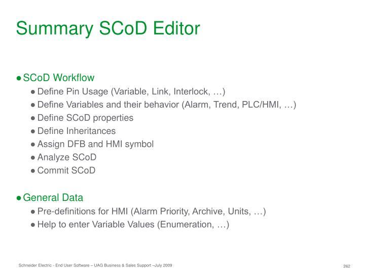 Summary SCoD Editor