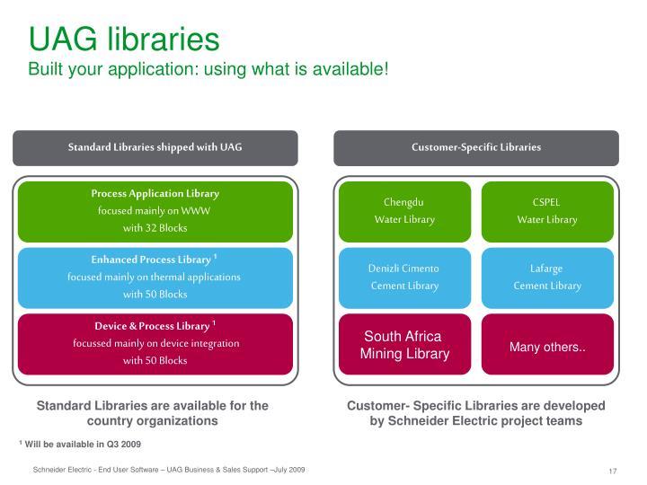 UAG libraries