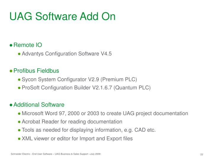 UAG Software Add On