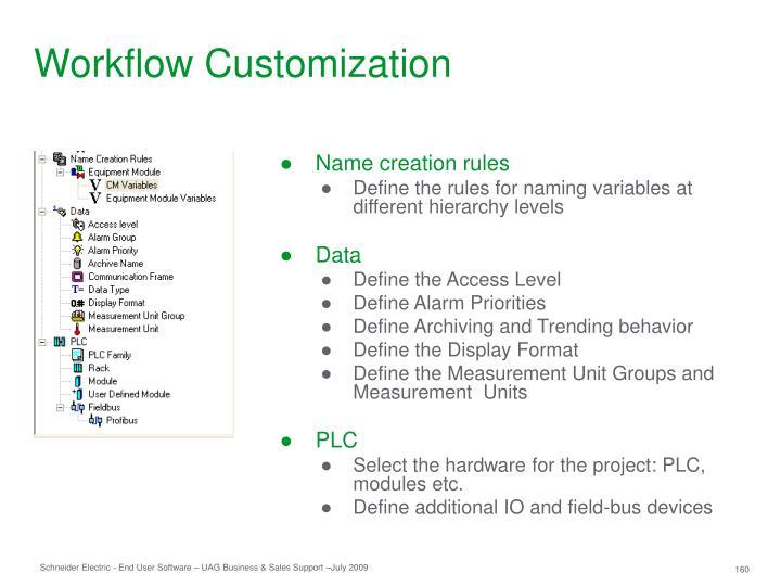 Workflow Customization