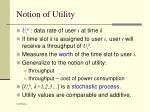 notion of utility