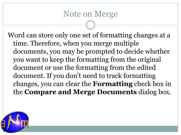 Note on Merge