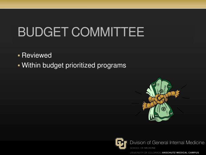 Budget committee