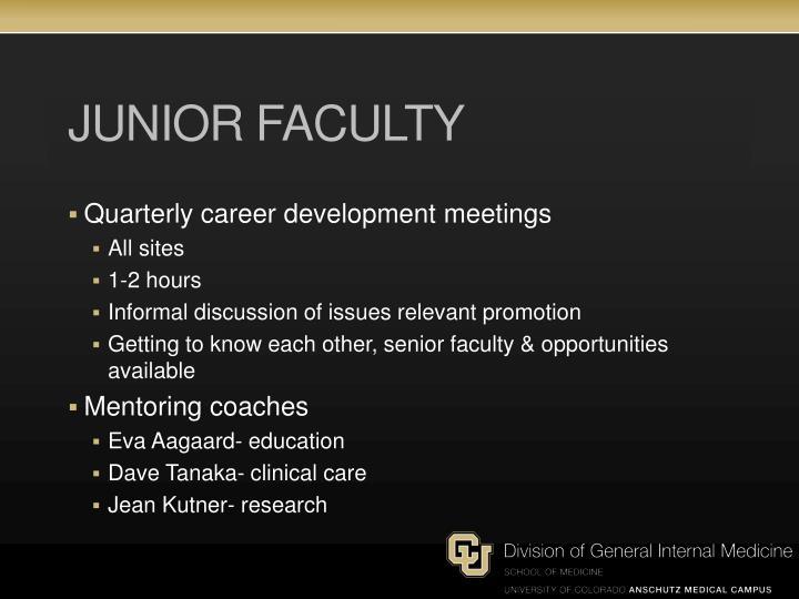 Junior Faculty