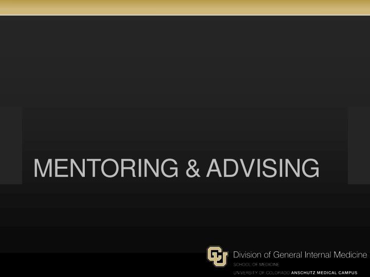 Mentoring & advising