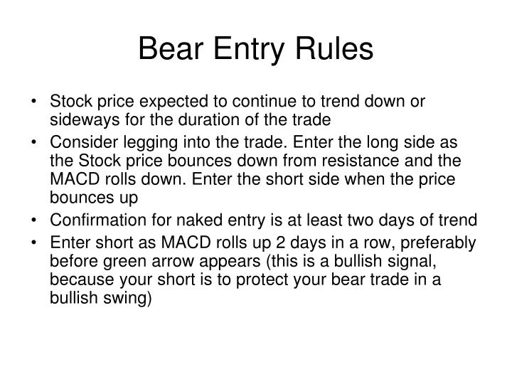 Bear Entry Rules