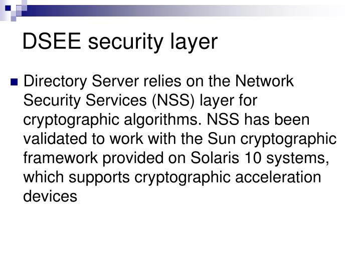 DSEE security layer