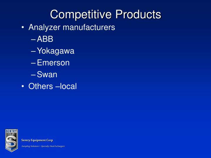 Competitive Products