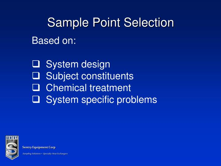 Sample Point Selection