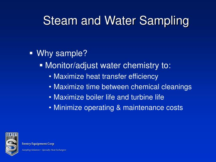 Steam and Water Sampling