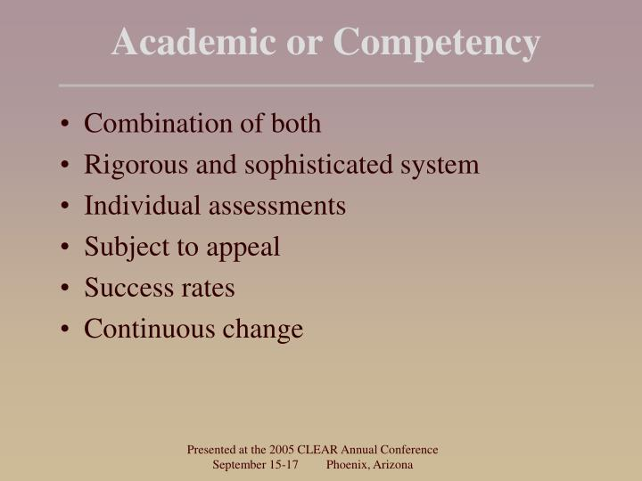 Academic or Competency