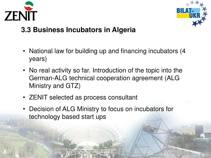 3.3 Business Incubators in Algeria