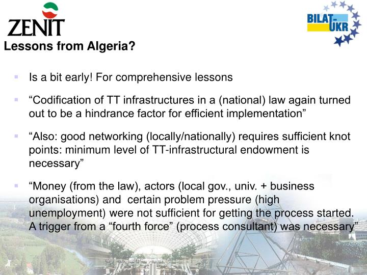 Lessons from Algeria?
