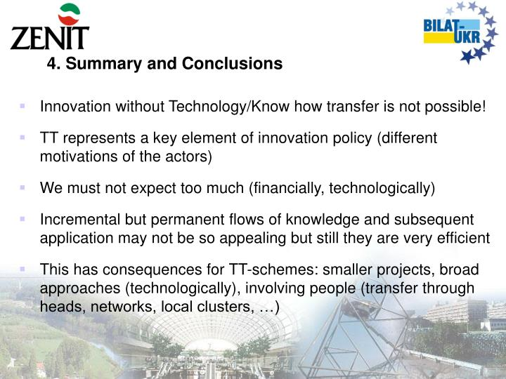 4. Summary and Conclusions