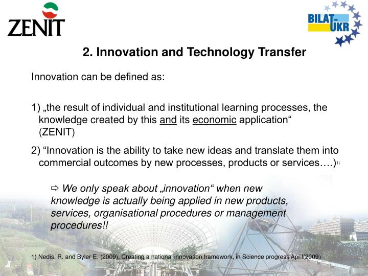 2. Innovation and Technology Transfer