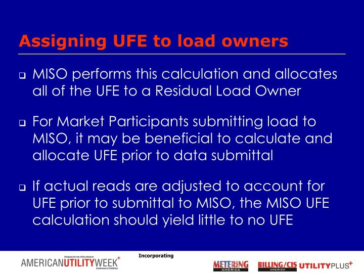 Assigning UFE to load owners
