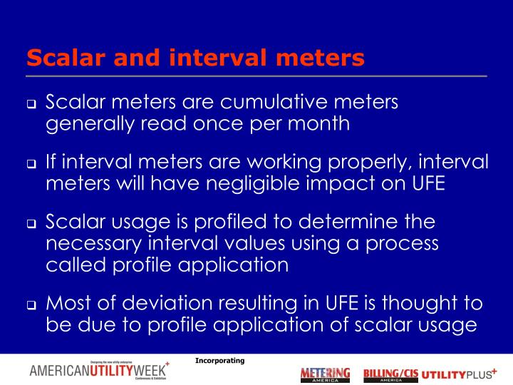 Scalar and interval meters