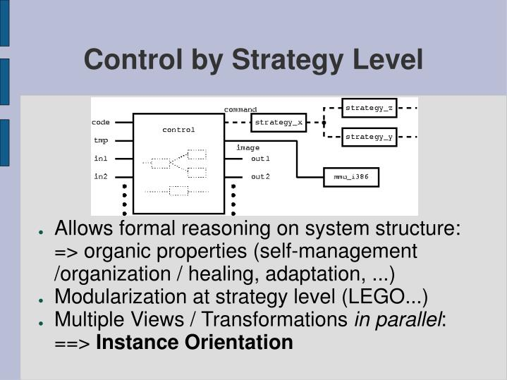Control by Strategy Level