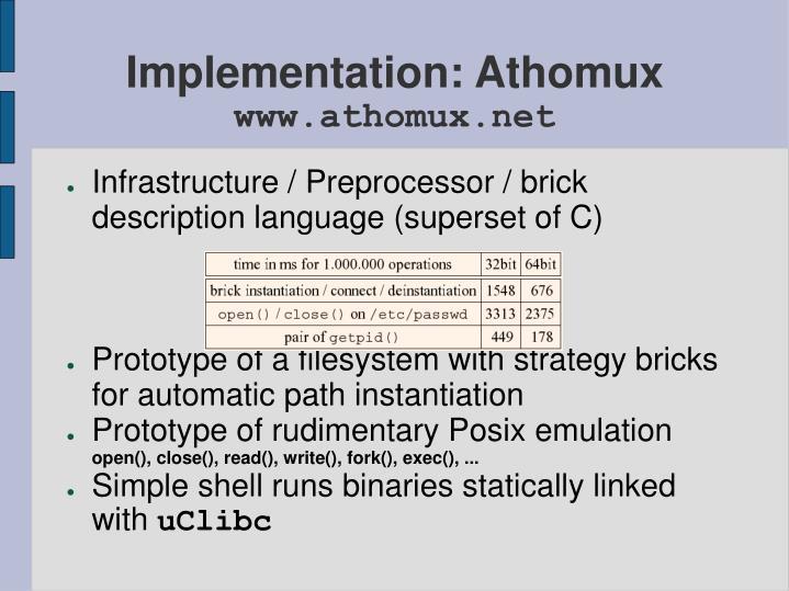 Implementation: Athomux