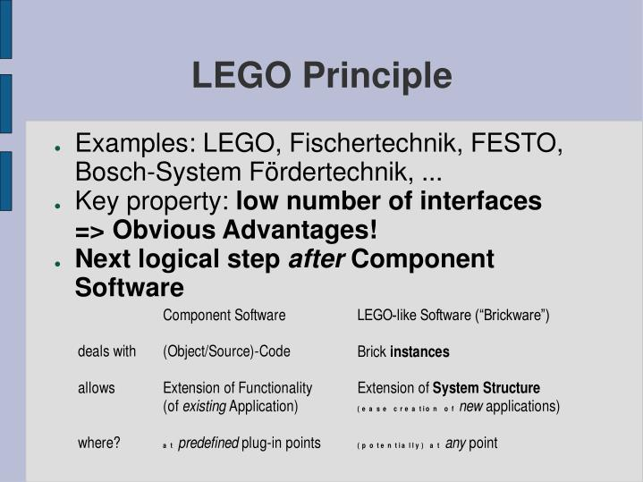 LEGO Principle