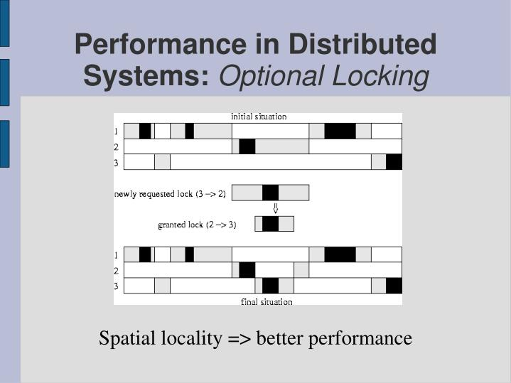 Spatial locality => better performance