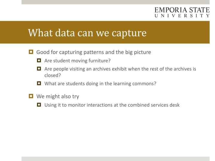 What data can we capture