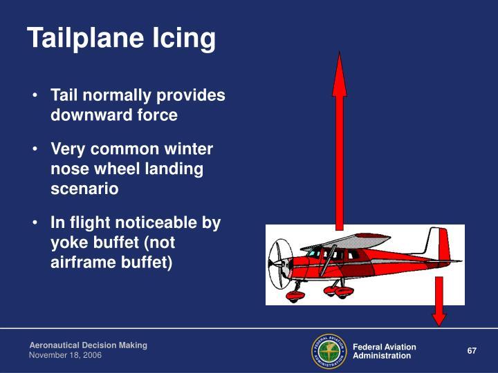 Tailplane Icing
