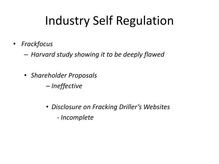 Industry Self Regulation