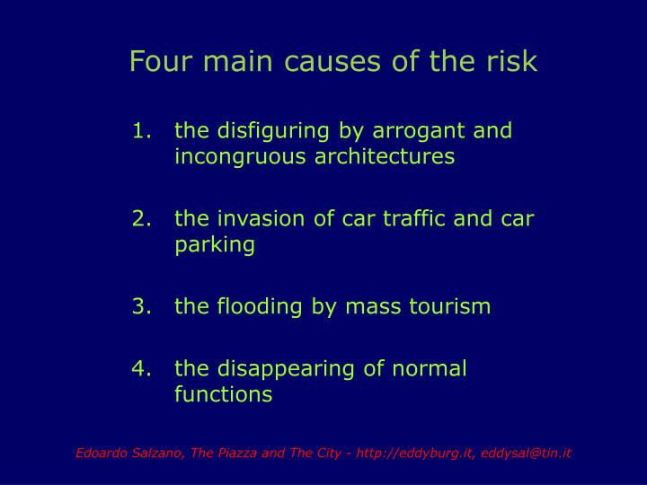 Four main causes of the risk
