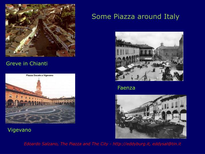 Some Piazza around Italy