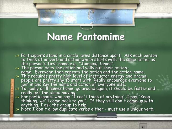Name Pantomime