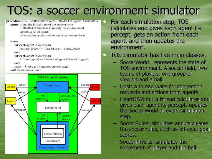 TOS: a soccer environment simulator