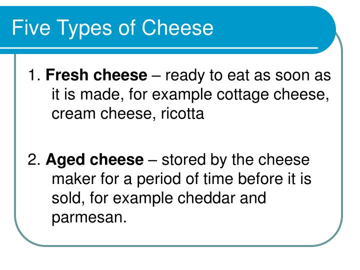 Five Types of Cheese