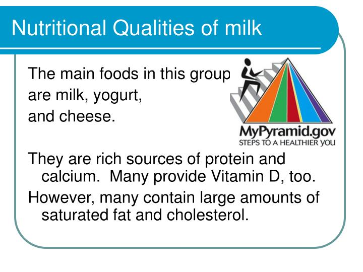 Nutritional Qualities of milk