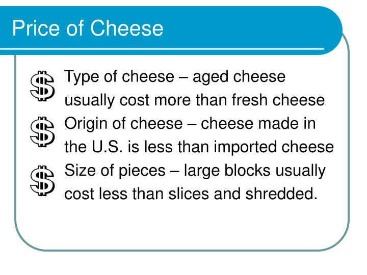 Price of Cheese