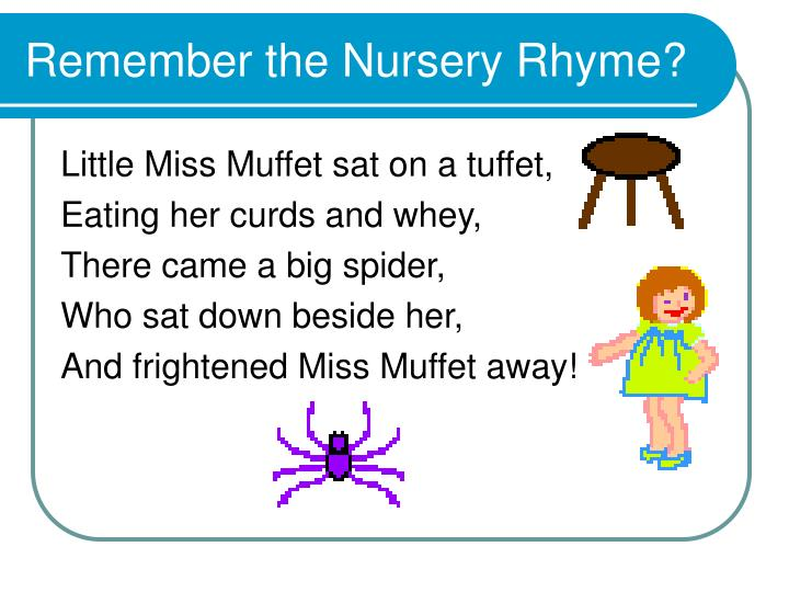 Remember the Nursery Rhyme?