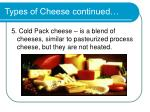types of cheese continued1