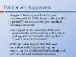 petitioner s arguments