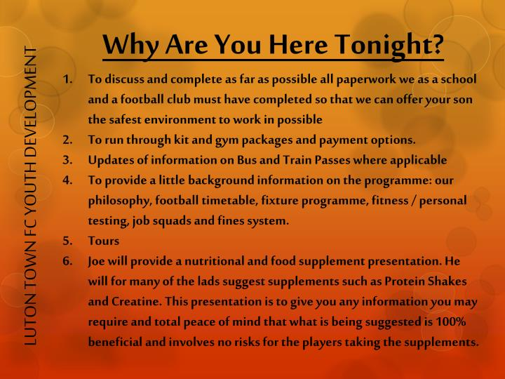 LUTON TOWN FC YOUTH DEVELOPMENT