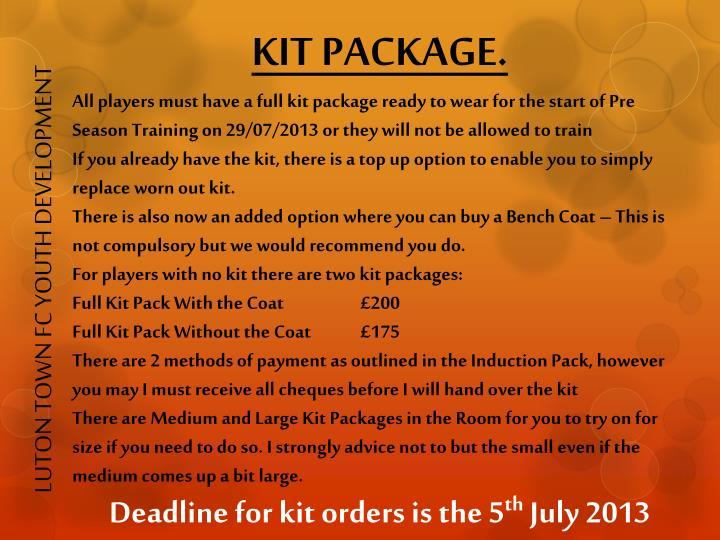 KIT PACKAGE.