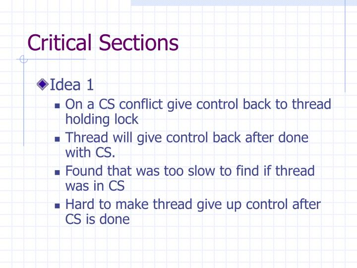 Critical Sections