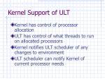 kernel support of ult