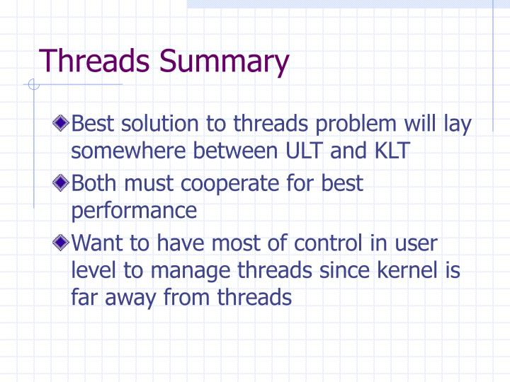 Threads Summary