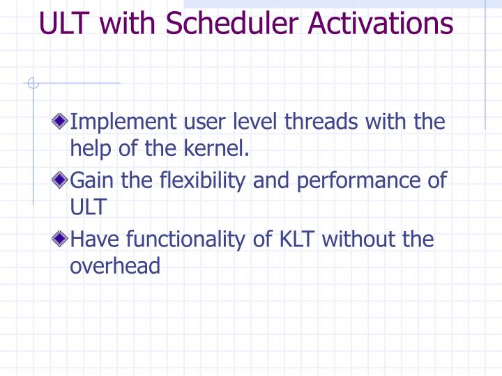 ULT with Scheduler Activations