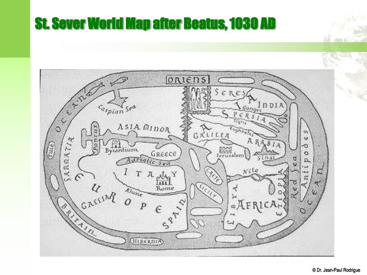 St. Sever World Map after