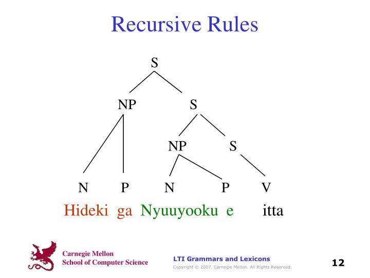 Recursive Rules