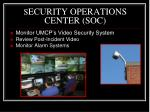 s ecurity operations center soc